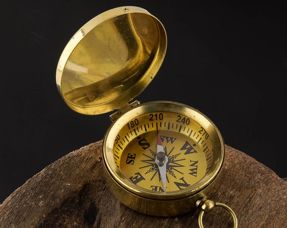 Brass Pocket Compass Nautical SeaStyle