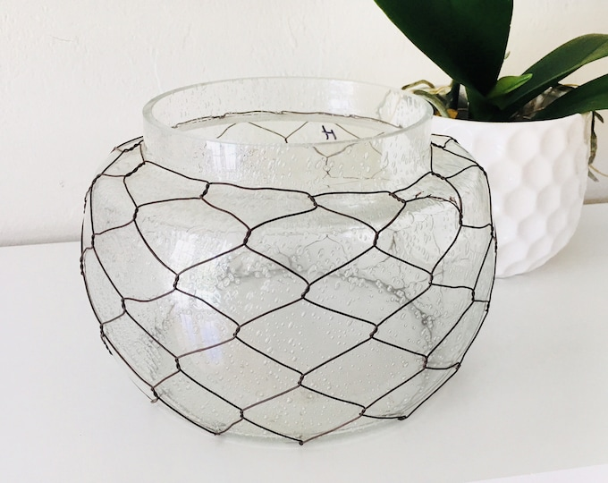 Vintage Glass Vase Beach Decor by SEASTYLE