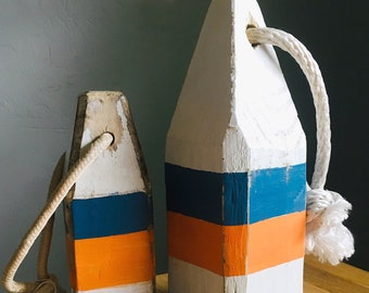 Coastal House Decor Set Big and Small Buoys Vintage style by SEASTYLE
