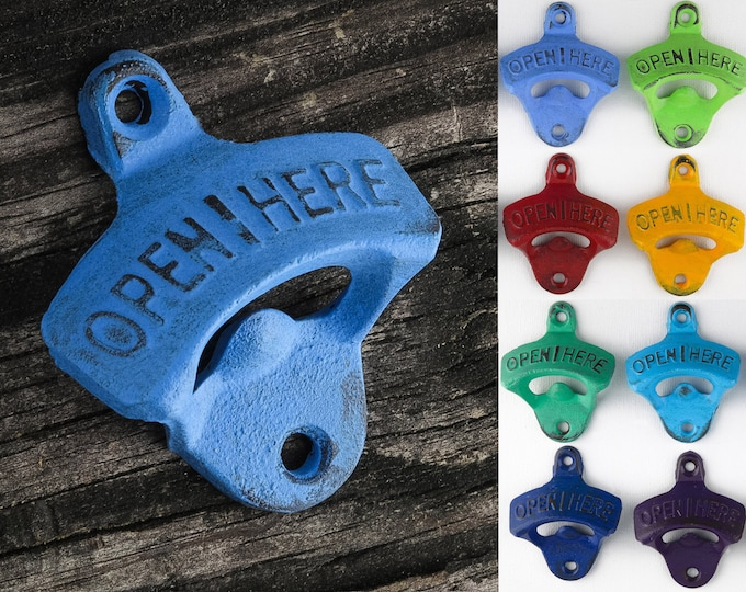 Bottle Openers Beer Man Gift Distressed Cast Iron by SEASTYLE