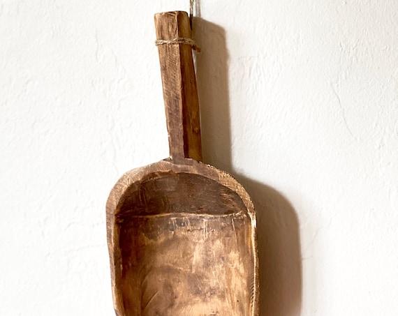 Vintage Wooden Big Spoon Primitive Tribal Art by SEASTYLE