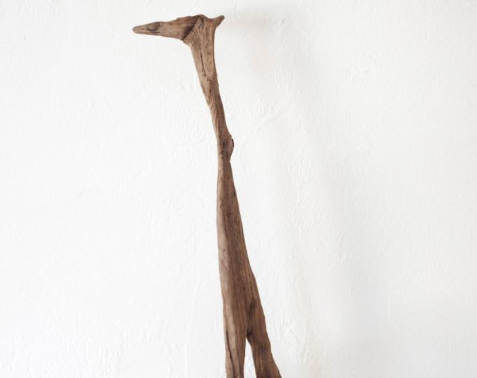 "Drift Wood Piece on a stand ""Sea Giraffe"" 20 inch Beach Décor by SEASTYLE"