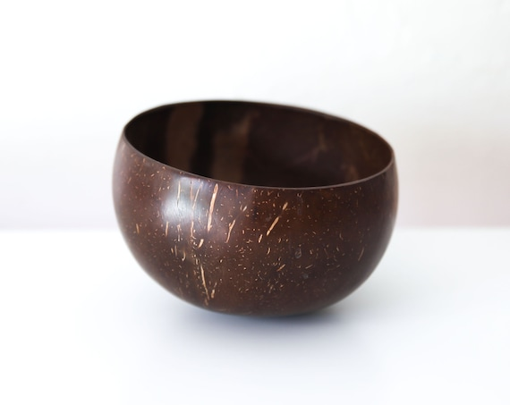 """Coconut Bowl 6x3x6""""  Beach Decor Wooden by SEASTYLE"""