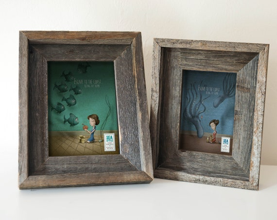 Reclaimed Wood Recycled Frame Beach Decor Nautical, by SEASTYLE