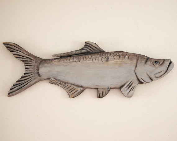 "Driftwood Beach Décor 45"" Tarpon 2d sculpture by SEASTYLE"