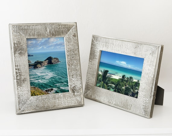Distressed Gray Picture Frame Beach Decor Nautical, by SEASTYLE
