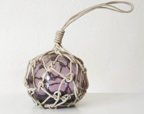 "Vintage Japanese 6"" Glass Fishing Float Light Purple  Beach Decor by SEASTYLE"