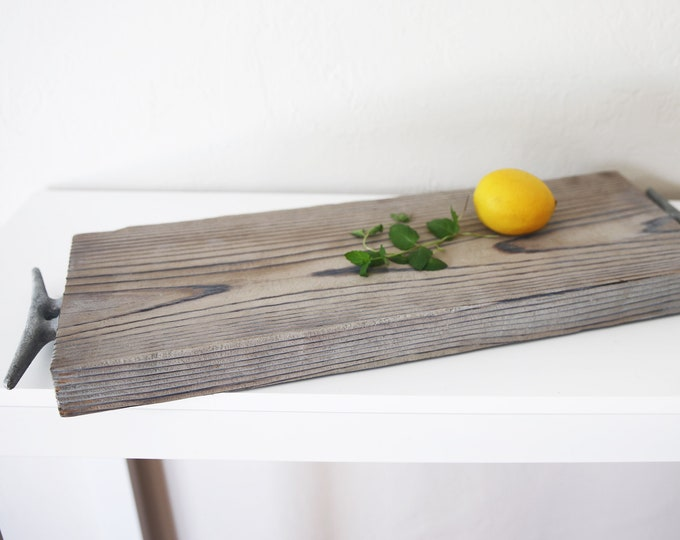 Wood Food Tray Food Dish Storage Tray Coastal Decor by SEASTYLE