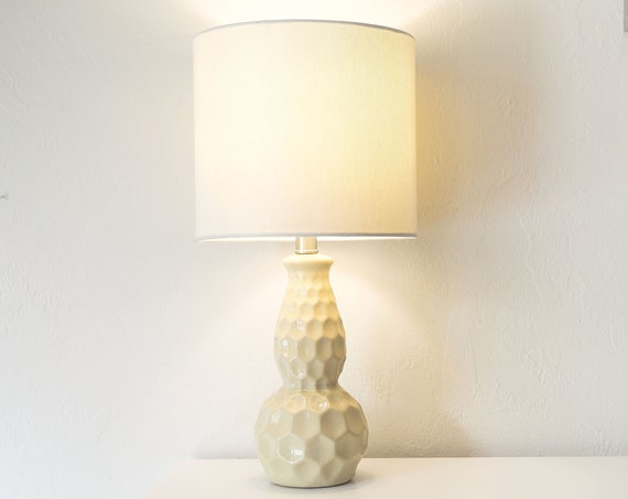 Nautical Accent Beige Lamp vintage Beach Decor by SEASTYLE