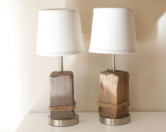 DriftWood Nautical Accent Lamps, 2 pcs Beach Decor by SEASTYLE