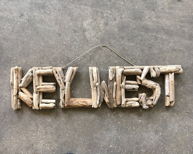 Driftwood Beach Décor KEY WEST signs by SEASTYLE