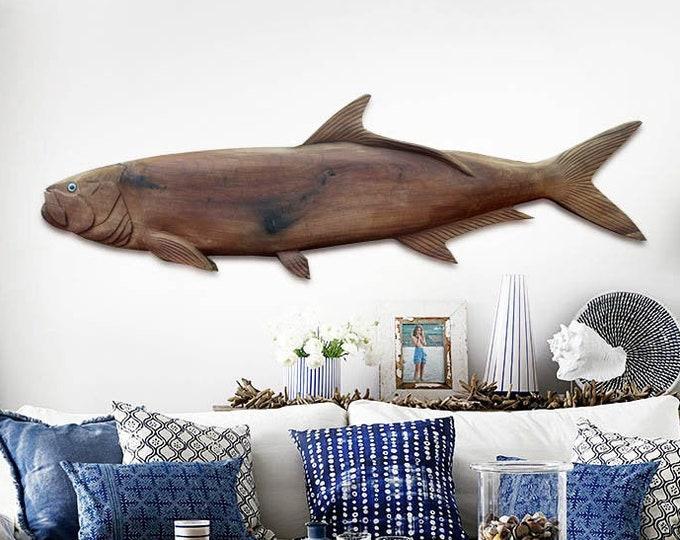 "Beach Décor Tarpon 50"" 2d fish sculpture by SEASTYLE"