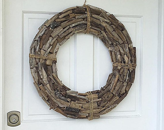 "Rustic 25"" Driftwood Wreath  Coastal Beach Décor by SEASTYLE"