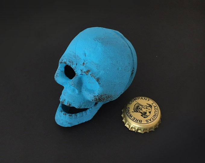 Cast Iron Skull Bottle Opener Beach Decor