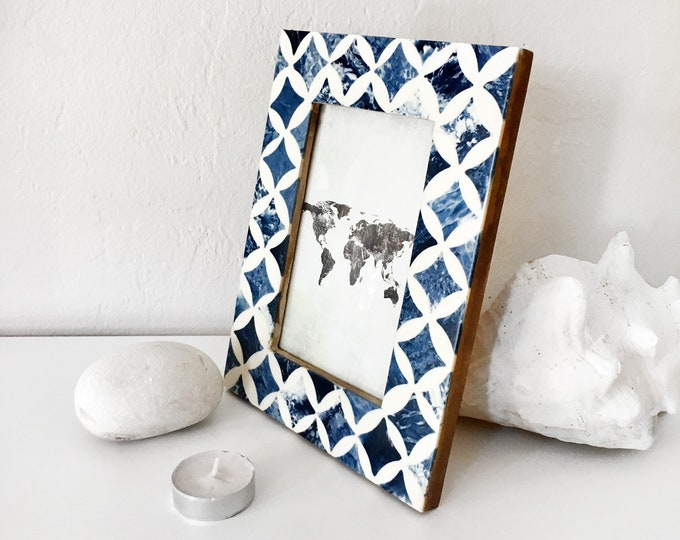 Vintage Style Wood Picture Frame Nautical Beach Decor by SEASTYLE