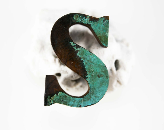 "Beach Decor Wooden LETTER ""S"" Vintage Style Nautical by SEASTYLE"