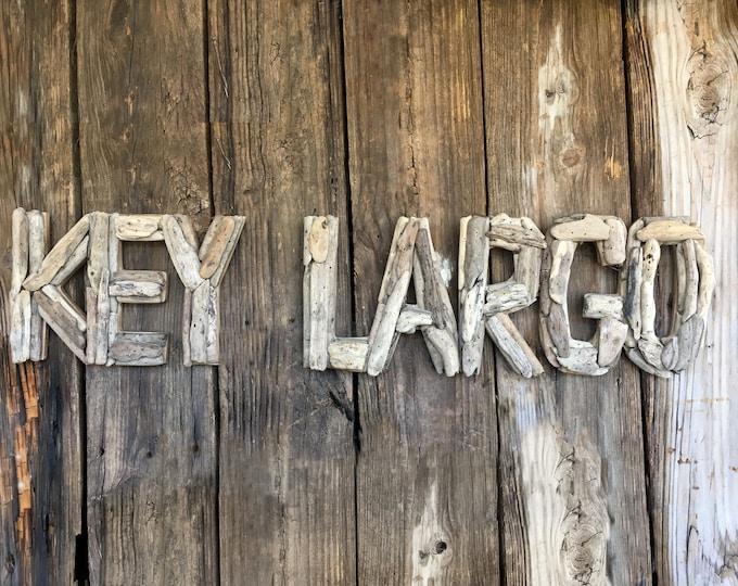 Driftwood Beach Décor KEY LARGO signs by SEASTYLE