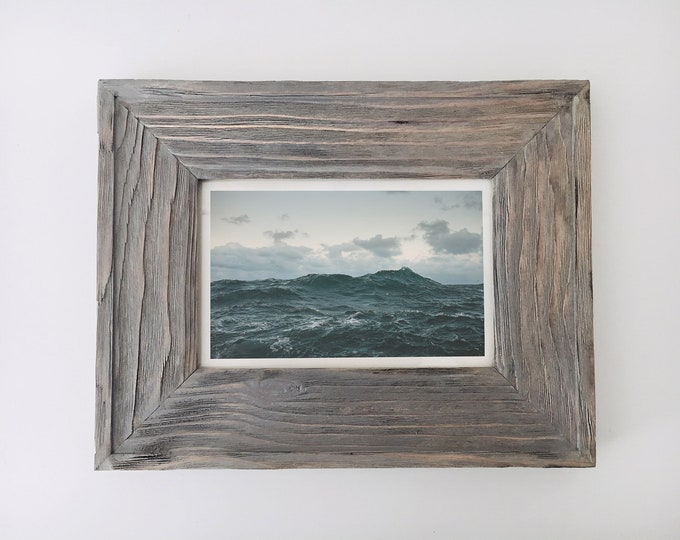 "Nautical Wood Picture Frame  10x8"" Driftwood Beach Decor, by SEASTYLE"