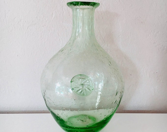 Vintage Glass Vase 10'' Beach Decor by SEASTYLE