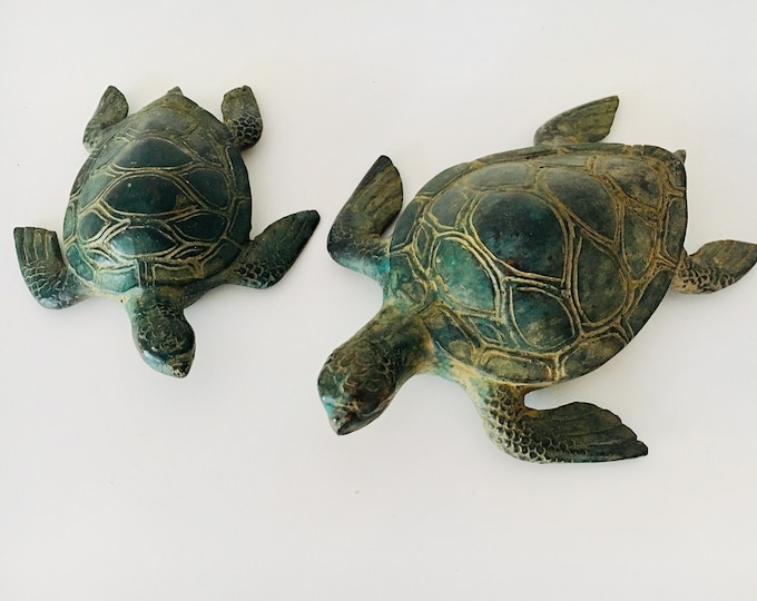 Beach Decor Copper Turtle Vintage Style Restored by SEASTYLE