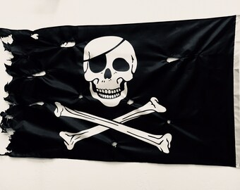 Beach Decor Pirate Flag 5x3 ft Jolly Roger Black 90X150cm by SEASTYLE