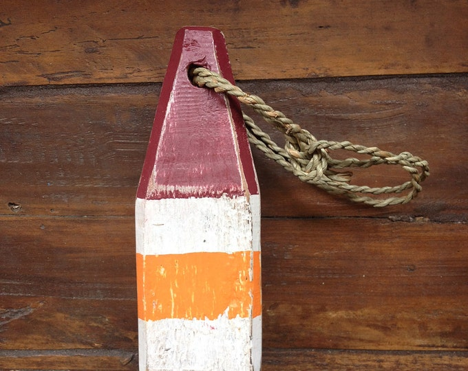 """Beach Decor 11"""" Lobster Buoy Orange Red Vintage Style Nautical by SEASTYLE"""