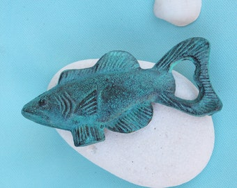 Coastal Decor Fish Bottle Opener Blue by SEASTYLE