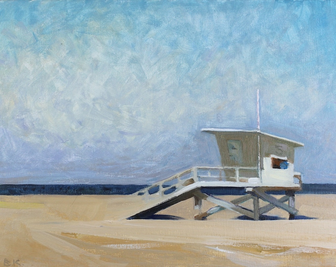 """Beach Decor """"Sunny day"""" Oil Painting by B. Kravchenko for SEASTYLE  Wall Art FREE SHIPPING"""