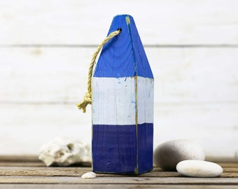 "Beach Decor, 10 buoys for Kathryn 11"", Blue, White, Dark Blue, Vintage Style, Nautical, by SEASTYLE"