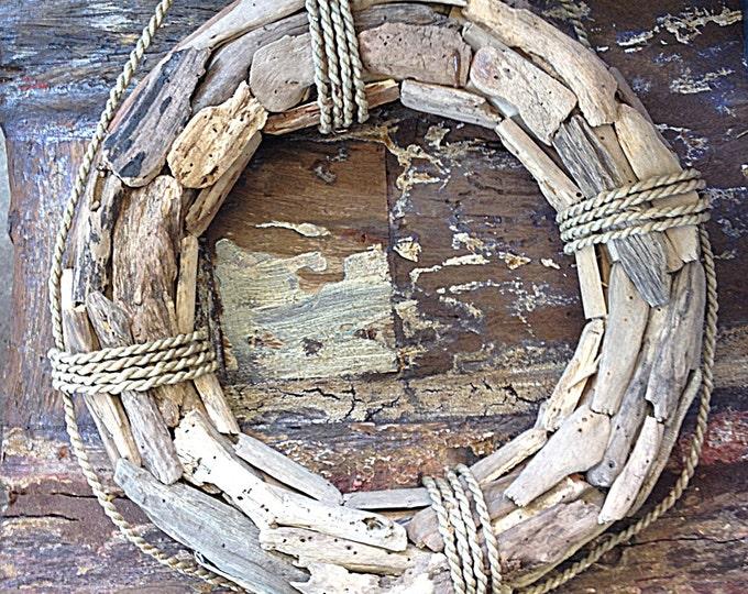 """Beach Décor 25""""  Driftwood Wreath Coastal Decor  by SEASTYLE"""