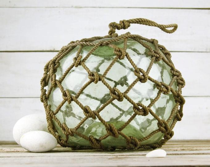 Beach Decor Greenish Big  Onion Fishing Float by SEASTYLE