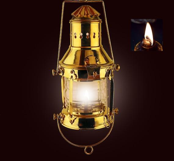 Vintage Brass Lantern Oil Lamp SEASTYLE