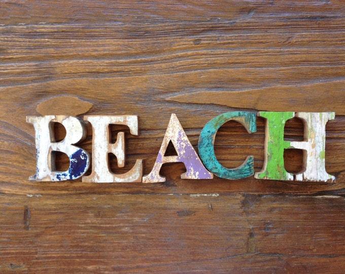 FREE SHIP Beach Decor Beach Vintage Nautical Wooden SEASTYLE