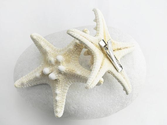 Stocking Boho Jewelry 1 pcs Starfish Seashell Barrette Hair Clip Handmade Gift by VERO for SeaStyle