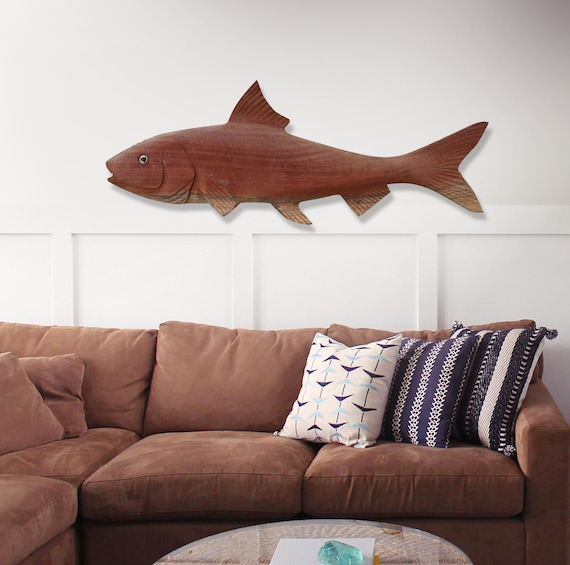 "Wood Fish 31"" 3D Two Side Beach Décor by SEASTYLE"