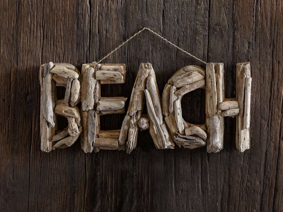 Driftwood Beach Décor BEACH signs by SEASTYLE
