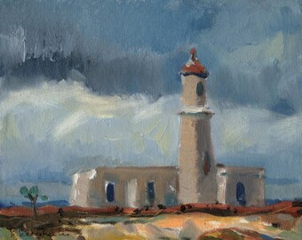 """SALE """"Light house"""" Oil Painting by B. Kravchenko for SEASTYLE"""