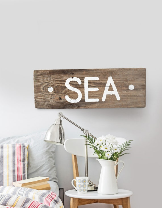 "Driftwood SEA Sign 19""  Nautical Beach decor by SEASTYLE"