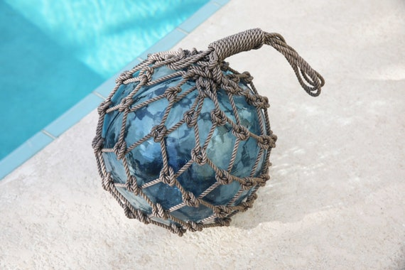 "Blue Super Big Fishing Float 12"" Beach Decor by SEASTYLE"