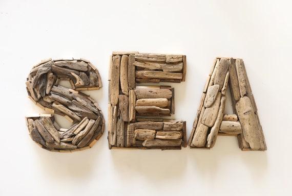 """SEA Sign 10x30"""" Driftwood Beach Décor by SEASTYLE"""