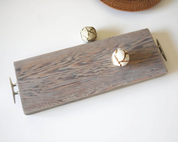 Driftwood Food Tray Food Dish Coastal Decor by SEASTYLE