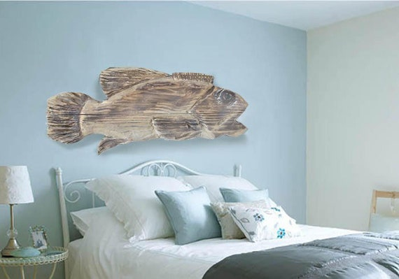 "Driftwood Beach Décor 29.5 "" Fish 2d sculpture by SEASTYLE"
