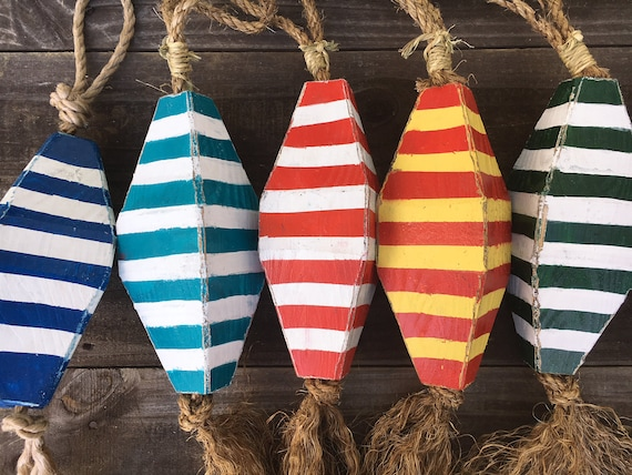 Lobster Buoys Beach Decor Vintage Nautical Wooden SeaStyle