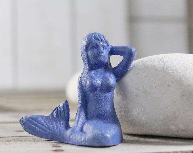 Sale 35% off Mermaid Beach Decor Purple Cast Iron Distressed by SEASTYLE