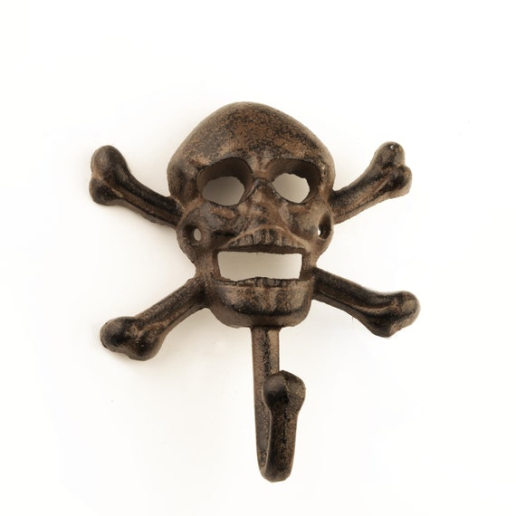 Scull Hook Cast Iron Distressed by SEASTYLE