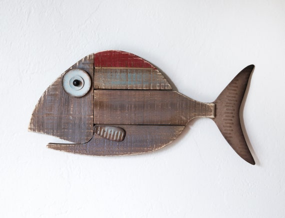 Wooden Fish Reclaimed wood Beach Décor by SEASTYLE