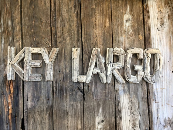 Driftwood Beach Décor KEY LARGO signs by SEASTYLE