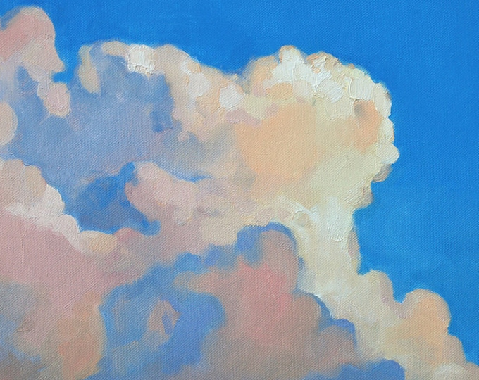 "Beach Decor Original Oil Painting ""Cloud"" by SEASTYLE"