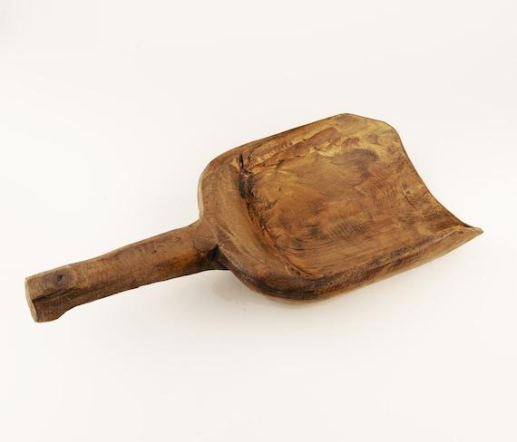 Primitive Tribal Art Vintage Wooden Big Spoon by SEASTYLE
