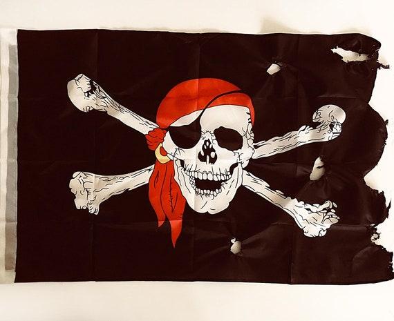 Beach Decor Pirate Flag 3x5 FT Jolly Roger Black 90X150cm by SEASTYLE